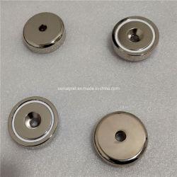 El neodimio NdFeB permanente de fuerza magnética de la Ronda D48mm Pot con agujero avellanado