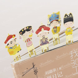 皇帝の女王中国宮殿博物館のキーホルダーを帝国宮殿の金属の王女皇太子シリーズの本のラベルの漫画の習慣のブックマークカスタマイズした