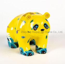 Alle hand geschilderde dierlijke beeldhouwkunst Resin Funny Panda Crafts