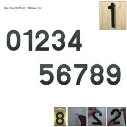 6インチ145mmの大きい現代屋家番号のホテルのホームドアの部屋番号屋外アドレスプラクの鉄