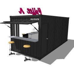 Novo Design Venda quente modificados prefabricados móveis modulares Café Bar no recipiente do Hysun