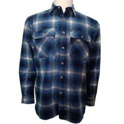 Herren 100 % Baumwolle Garn Dye Chambray Plaid Langarm gewebte Hemden