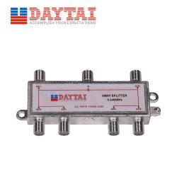 6-Wege DC-Stromdurchgang koaxialer TV-Satelliten-Splitter 5-2400MHz