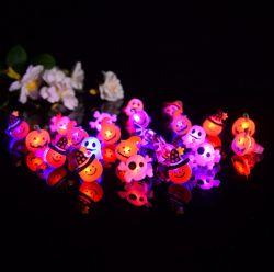 뜨거운 판매 파티 플라스틱 다이아몬드 링 LED가 깜박입니다 어린이용 손가락 반지