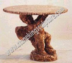 Mesa de piedra tallada para jardín (SK-1943)