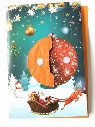 팝업 크리스마스 종이 인사장 권유 카드