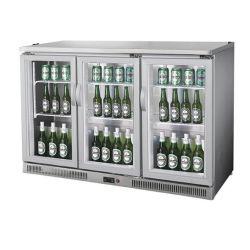 Porta de vidro Tampo da mesa/bancada portátil Frigobar Geladeira Refrigerador de exibição