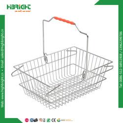 Het Winkelen van het metaal de Manden van de Draad voor de Opslag van de Kruidenierswinkel (hbe-B-19)