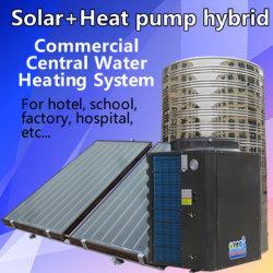 플랫 플레이트 솔라 수집기 및 히트 펌프 하이브리드 큰 물 난방 시스템