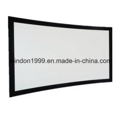 Schermi di proiezione anteriore con il blocco per grafici curvo fisso