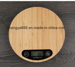 La plataforma de bambú LCD Digital eléctrico 5000g /1g del dispositivo de pesaje