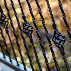 Revêtement poudré noir pour la décoration de clôture en fer forgé