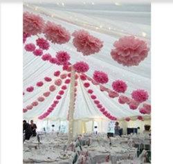 Commerce de gros POM Poms boules de fleurs pour la nouvelle décoration design