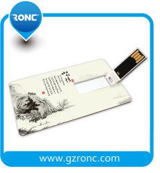 Logo personnalisé Slim 4 Go de carte de crédit de 8 Go et 16 Go et 32 Go à 64 Go de 128 Go USB Stick