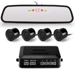 Sistema del sensore di parcheggio dello specchio con la visualizzazione di LED variopinta che indica distanza di ostacolo