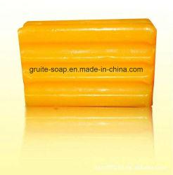 Vestiti variopinti trasparenti che lavano la barra del sapone per la lavanderia