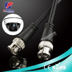 BNC macho para macho do cabo de vídeo coaxial para câmara CCTV