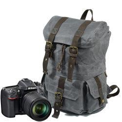 Новые поступления хорошее качество вощеной Canvas наружная камера рюкзак Водонепроницаемая сумка для фотокамер