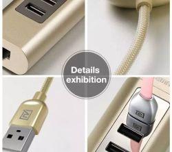 3 ports USB 2.0 de l'ITAO Original 100m moyeu multifonctionnel d'accès Internet