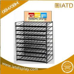 Cable de metal personalizados Gridwall Grupo Expositor Rack con base en forma de H