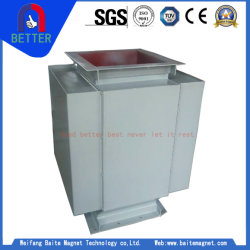 ISO9001/Minerales permanente de canalización vertical separador magnético de mineral de hierro y carbón