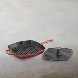 L'huile végétale de revêtement de la viande carré Appuyez sur la Fonte Grill BBQ