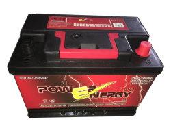 Powerenergy DIN75mf 12V75ahの鉛の酸の手入れ不要の自動電池