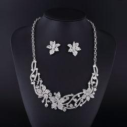 2016 Canadá Maple Leaf Rhinestone jóias de liga de zinco conjunto colar