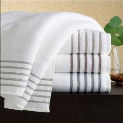Commerce de gros Teinture de fils de coton bouclé Hôtel serviettes
