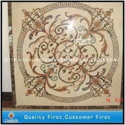 Pierre naturelle décoratifs personnalisés jet d'eau en mosaïque de marbre des tuiles de plancher