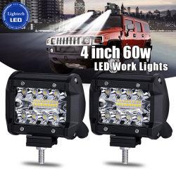 Carro automático de alta potência 4 polegada 60W 4X4 Barra de luz LED para Offroad Town Car ATV SUV de barco