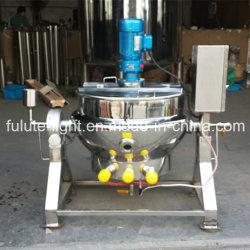 Aço Satinless camisa de aquecimento por vapor chaleira com o agitador