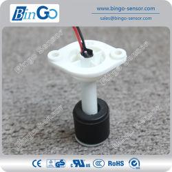 62 mm de haut monté sur tige en PP blanc NBR noir du contacteur de niveau de flottement pour réservoir d'eau
