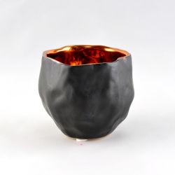 Rosen-Gold, das keramischen Kerze-Behälter galvanisiert