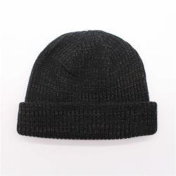 Les hommes populaires Black Cap jacquard coton Tricot acrylique Beanie Hat