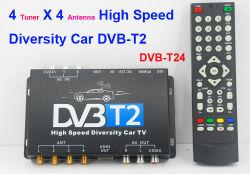 Alquiler de DVB-T2 Sintonizador 4 receptor de televisión Antena 4 Televisión de alta definición HDMI USB de alta velocidad de la Federación de Rusia