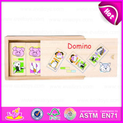 2015 nuovo Item Wholesale Wooden Domino Toy, Wooden Domino per Divent Kids Brain, Domino di Children Games in Wooden Caso W15A027