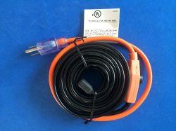 L'élevage de l'usine UL, CSA, Ved, ce câble de chauffage du tuyau de l'eau 7W/FT avec USA Plug-New