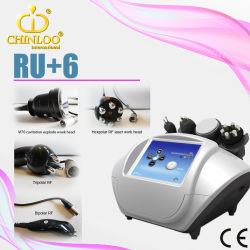 Skin TightenおよびCellilute Reduction (RU+6)のためのChinloo Mini Portable Radiofrequency RF Cavitation及びUltrasonic Beauty Machine