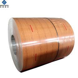 PVDF/PE/Feve 3003h24 1100h24 da bobina de Alumínio Revestido Prepainted Madeira liga de alumínio laminado para construir produtos materiais