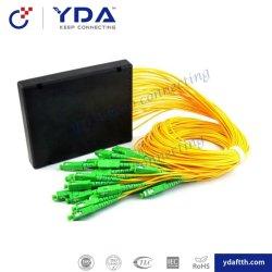 FTTH Sc/APC 1X16 Faser Optik-PLC-Splitter/ABS Kasten PLC-Teiler Baugruppe PLC-Splitter/ABS