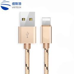precio de fábrica de alta calidad 1m /3 pies de la MFI certificó el cable de carga para el iPhone 5 6 7 Utilice un cable USB cargador de 8 pines