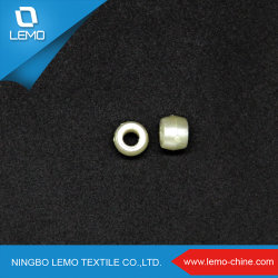 한 개의 구멍 플라스틱 펄 베이드로 5mm 은빛 원형