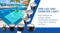 316ss 36W 54W indicatori luminosi subacquei della piscina del LED messi 90 gradi