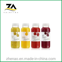 プラスチックフルーツの飲料のびんのステッカーの付着力のステッカーのラベルの印刷