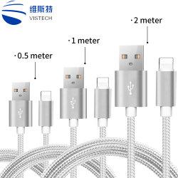 5V 2НЕЙЛОНОВОЙ ОПЛЕТКОЙ USB-кабель передачи данных Быстрая зарядка кабель 1 м кабель передачи данных для iPhone, тип C
