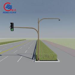 Galvanisé à chaud pôle tubulaire de signe de la circulation de la sécurité routière Q235B