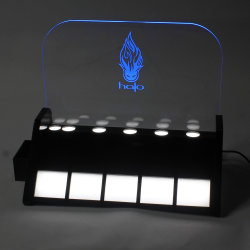 Acrílico de luz LED E-cigarrillo Stand