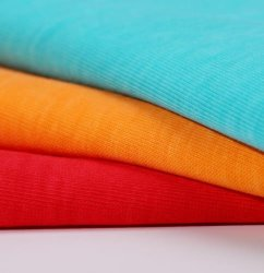 Super Soft de alta densidad de 100% algodón orgánico pesado costilla Jersey Tejido Interlock