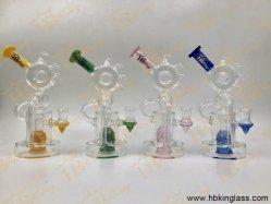 Tubi di acqua unici di vetro di tabagismo del narghilé di Waterpipes delle caffettiere a filtro di Hbking Hotselling